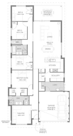 Pulse House and Land Package Floorplan by GO Homes Best House Plans, Dream House Plans, Small House Plans, House Floor Plans, Home Design Floor Plans, House Blueprints, Bedroom House Plans, Suites, Story House