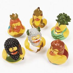 """Greek God Rubber Ducks: Neptune, Athena, Medusa the Gorgon, Cyclops, Zeus, and Hercules. Retired and out of pro""""duck""""tion."""