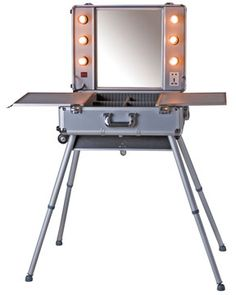 Portable Make-Up Station on Wheels