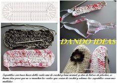 Zapatillas con 2 Suelas de Crochet y Plastico | Patrones para Crochet