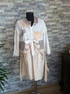 Boho clothing dress upcycled clothing upcycled recycled repurposed clothing dress patchwork wearable art hippie artsy gipsy gypsy clothing on Etsy, $80.17 CAD