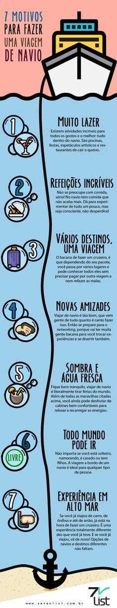 #SevenList #Infográfico #Infographic #Ilustração #Illustration #Desenho #List #Lista #Navio #Navy #Cruzeiro #Cruise #Travel #Viagem #Destino #Mar #Lazer #Diversão #Refeição #Amizades #Água #Descanso #Altomar #Experiência