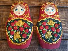 Mother's Day Cookies, Cake Cookies, Matryoshka Doll, Stone Art, Food Design, Cookie Decorating, Amazing Cakes, Christmas Cookies, Gingerbread