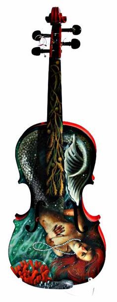 this is what I want to do to my cello. Not the same picture, but get it painted.