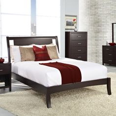 Floating panel bed on Overstock | $342.99