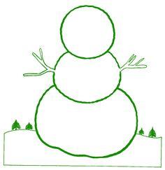 snowman template for kids