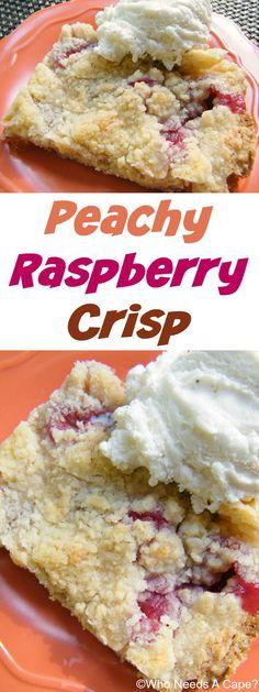 Peachy Raspberry Crisp | Who Needs A Cape?