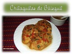 Las Chilaquilas de Guisquil son rodajas de guisquil cocido rellenas de queso y forradas con huevo.  Se sirven con salsa de tomate.   En lugar de guisquil también se pueden hacer con tortillas frías o con ichintal o inchintal (raiz comestible del guisquil).  Espero les guste :O)