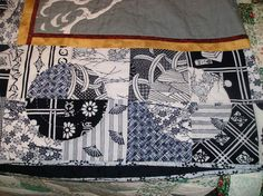 Japanese Yukata/Furoshiki Quilt - QUILTING - This quilt is a commission job for a friend's daughter who is studying Japanese at Univ NV/Reno this fall (we're playing Las Vegas tomorrow Japanese Quilt Patterns, Japanese Patchwork, Japanese Textiles, Japanese Fabric, Quilt Block Patterns, Quilt Blocks, Blue Quilts, White Quilts, Quilting Projects