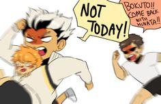 Bokuto keeps trying to kidnap Hinata and Sawapapa isn't pleased with that