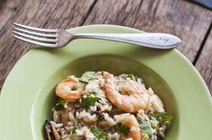 Zeleninové rizoto s plodmi mora (recept)