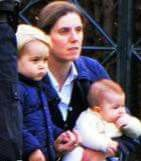 Nanny Maria with Prince George and Princess Charlotte