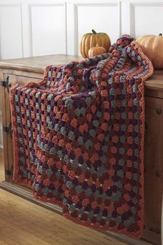Harvest Home Rectangle Granny Afghan ~ free pattern ᛡ