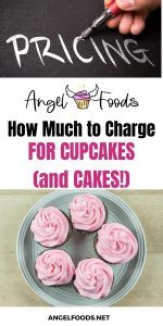 How much to charge for cupcakes and cakes | how to price cakes | cake pricing help | angel foods | cake business school Cake Business, Business Advice, Online Business, Pastry Cook, Cupcake Towers, Cake Templates, Cake Pricing, Recipe For Success, Mothers Day Cake