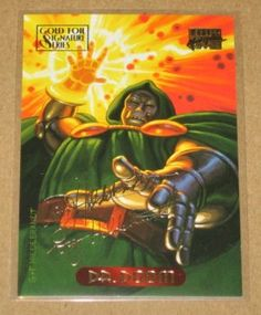 Marvel Masterpieces 1994 Gold-Foil Signature Parallel Card #31 Doctor Doom EX