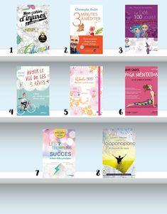 8 livres bien-être et développement personnel pour 2017 - Ho'oponopono, défi des 100 jours, 7 tremplins du succès, 3 minutes à méditer, coloriages anti-stress