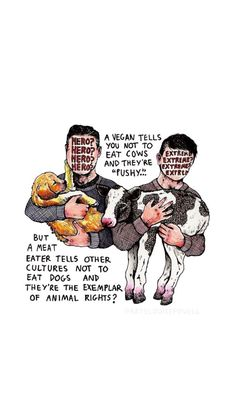 Or whales, because apparently just certain animals have the privilege to not be tortured,but that doesnt includes human babies of a vegan The Animals, Vegan Animals, Strange Animals, Vegetarian Quotes, Vegan Quotes, Vegan Vegetarian, Vegan Facts, Vegan Memes, Protein Dinner