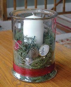 Christmas Glass Hurricane | Capper's Farmer