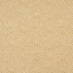 Upholstery Fabric K6635 Gold/pineapple Brocade/Matelasse, Damask/Jacquard