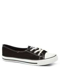 Teens Black Low Vamp Trainers
