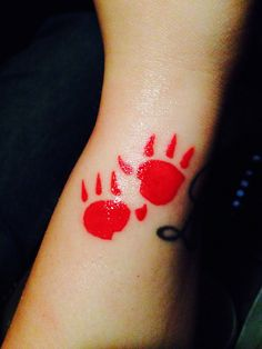 Pocahontas tattoo, kocoum, bear paw print tattoo