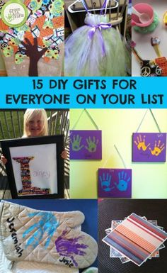 DIY gifts that kids can make from crayon monograms to DIY coasters.