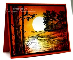 Cabin Sunset by annascreations - at Splitcoaststampers