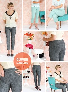 Pattern Company: Colette Patterns / Sew-Along Style: Clover pants / Hosted by: Colette Patterns