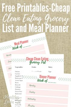 Need to eat clean on a budget? Check out this Cheap Clean Eating Grocery List. - Need to eat clean on a budget? Check out this Cheap Clean Eating Grocery List. This free printable - Clean Eating Pizza, Clean Eating Grocery List, Clean Eating Salads, Clean Eating Tips, Cheap Clean Eating, Clean Eating For Beginners, Grocery Lists, Grocery Store, Clean Clean