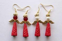A personal favourite from my Etsy shop https://www.etsy.com/listing/175149490/redgold-angel-paper-bead-earrings