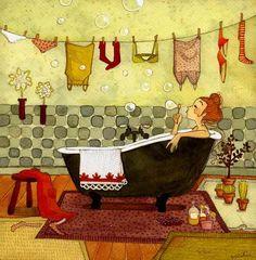 Lili Gribouillon, baignoire
