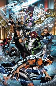 """Cyclops got the last laugh at the end of """"Battle of the Atom"""" when Kitty Pryde and the Original Five X-Men decided to leave Wolverine and join his Uncanny team of revolutionaries. In this first look at All-New X-Men the youngsters head into battle! Marvel Comics, Marvel E Dc, Fun Comics, Marvel Heroes, Marvel Characters, Marvel Girls, Captain Marvel, X Men, Jean Grey"""