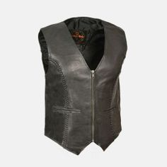 women's leather zip front jacket