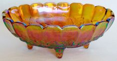 Vintage Indiana Glass Amber Carnival Glass by BeautyEverlasting