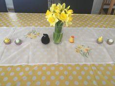 Easter table decoration details