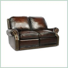 Barcalounger Premier ll Power Sofa Recliner in Stetson CoffeeThe Premier Collection features classic elegance and timeless styling. The beautiful hand rubbed leather, coil and down blend cushion and loose adjustable solid back pillow provide premi