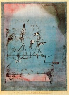 Paul Klee, Twittering machine, 1922, oil transfer drawing, watercolor and ink on paper with gouache and ink borders on board
