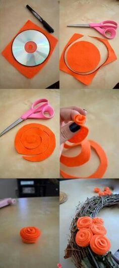 Roosje maken van papier