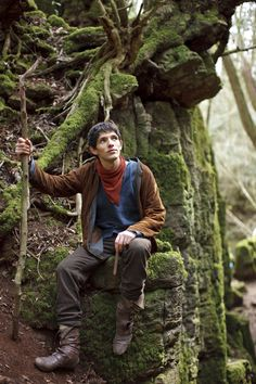 Merlin, great shot of the forest in Wales where they film the tv series Merlin...