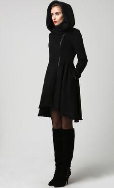 Winter Coats-Coats-Black Wool Coat-Woman Coat-Wool Coat-Winter Coat Woman-Black Wool Coat-Winter Coat-Midi Coat (1121) by xiaolizi on Etsy https://www.etsy.com/listing/204301734/winter-coats-coats-black-wool-coat-woman