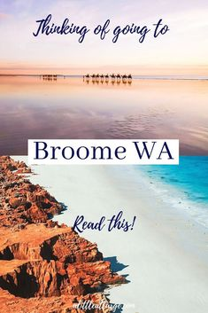 The best things to do in Broome, Western Australia. From watching the sunset at Cable Beach to seeing the stunning South Sea Pearls, Broome has it all. Broome Western Australia, Australia Country, Visit Australia, Australia Travel, Beach Trip, Beach Travel, Travel Guides, Travel Tips, Where To Go
