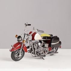 Miniatura Moto Harley-Davidson Vintage - Vermelha - Machine Cult - Kustom Shop | A loja das camisetas de carro e moto