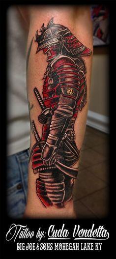 Beginnings of a Samurai sleeve! Samurai Warrior Tattoo, Warrior Tattoos, Badass Tattoos, Samurai Tattoo Sleeve, Demon Tattoo, Asian Tattoos, Arm Tattoos, Body Art Tattoos, Japanese Tattoo Designs