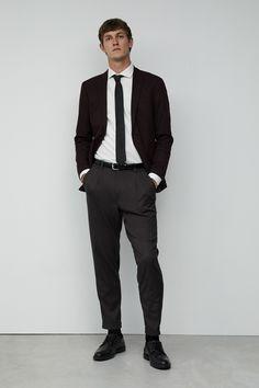 Sfera y su festiva colección monocromática nos auguran elegantes looks de fiesta Festiva, Suits, Outfit, Men, Style, Fashion, Faux Fur Jacket, Jackets, Full Sleeves
