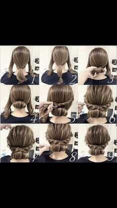 Easy updo for medium length hair: