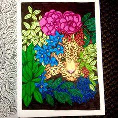 """21 kedvelés, 1 hozzászólás – Coloring Therapy (@didicoulor) Instagram-hozzászólása: """"#stabilopen68 #thecantsleepcolouringbook #leopard"""""""