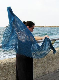 Beautiful knitting porn on this site! This one is a shawl, no crochet involved, just knitting. Yay.