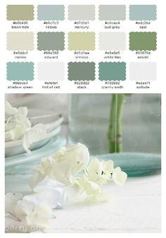 Color pallet for bathroom spa.