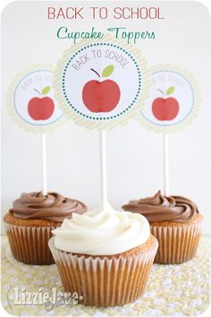 Back to School Cupcake Toppers - Liz on Call