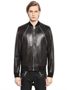 GIVENCHY NAPPA LEATHER JACKET on luisaviaroma (Old last year season) Zip closure Ribbed knit edging Two pockets with concealed snap button closure Two internal zip pockets Sample size: 48 Knit Edge, Givenchy Man, Luxury Shop, Menswear, Leather Jacket, Mens Fashion, Closure, Pockets, Zip